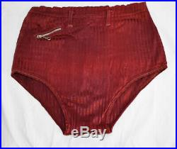 1930s Vtg MEN'S SWIM SUIT Trunks Collection 4+ Wool Belted SMALL SIZE Estate