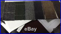 2018 Men's Vintage Suit 3 Pieces Tweed Check 2 Button Wool Gray Brown Custom New