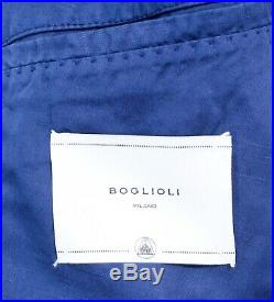 $2,295 NWT BOGLIOLI Persian Blue Unconstructed Vintage Cotton Linen Suit 48 38 R