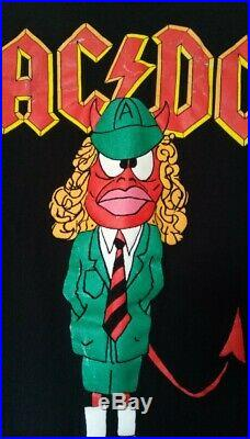 Acdc Rock Band Concert Shirt AC/DC 96 long sleeve world tour vintage green suit