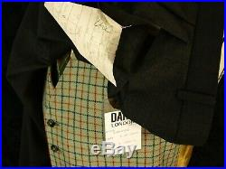 BNWT Daks Vtg Mens DB Double Breasted 1940'S Demob Style 1980's suit 40 32/34