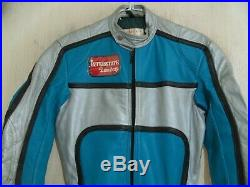 BRAND NEW VINTAGE 70's INTERSTATE LEATHERS MOTORCYCLE RACING SUIT SIZE 36 XS