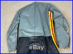 Bates California Vintage Custom Leather Motorcycle One Piece 1pc Riding Suit VTG