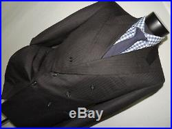 Bespoke By Bill Cairo vintage Gray Double Breasted suit coat 38 R pants 32X30