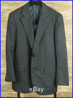 Brooks Brothers 40 R Golden Fleece VTG Earthy Gray Brown Wool Flannel Suit