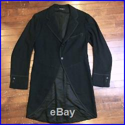 Brooks Brothers Vintage 1920s Mens 39 Black Wool Tuxedo Tux Frock Coat