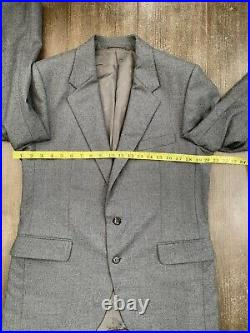 Christian Dior Vintage Grey Wool Two Piece Suit Beautiful 40-42 W32 VGC