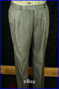 Classic Mens Vtg Tweed Burberry DB Double Brasted Suit 42 Large 34 / 35 W 31 L