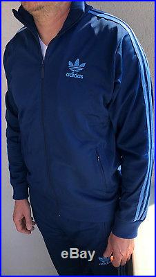 Classical Adidas mens tracking suit vintage mens model Light Blue tracksuit