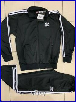 Classical Adidas mens tracking suit vintage old school tracksuit BLACK