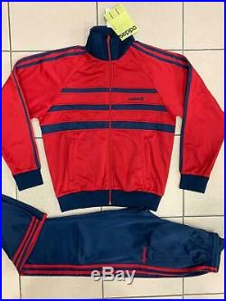 Classical Adidas mens tracking suit vintage old school tracksuit RED ZEBRA