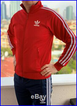 Classical Adidas tracking suit vintage old school retro RED tracksuit with pants