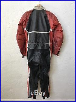 DAINESE Vintage Men's Leather Motorcycle Biker Track Racing 2 pc. Suit Size 54