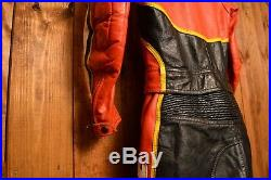 Dainese Italy Rare Riders Vintage Cafe Racer Motorcycle Biker Leather Suit 44-xs