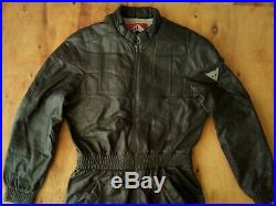 Dainese Vintage 70's Motorcycle One Piece Leather Suit Grand Prix Size EU54