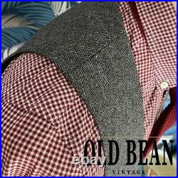 English Tailored Grey Herringbone Tweed 3 Piece Suit 42R from OBV