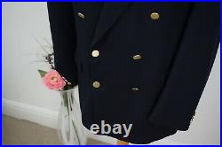 GIEVES & HAWKES Navy Gold Sport Jacket £695 Size 40/50 Mr Porter Double Breasted