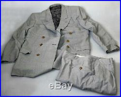Gucci Double Breasted 2 Button Vintage Plaid Suit 50R (European size)