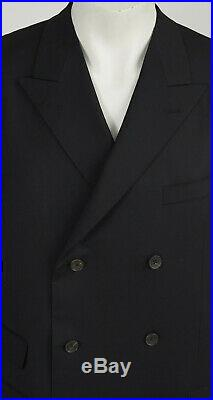 Gucci by Tom Ford 2003 S/S Black Wool Double-Breasted Suit Jacket Blazer VTG