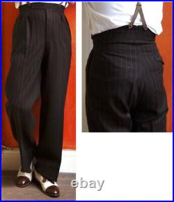 Incredible 1940's Vintage bespoke&dated Three-Piece Pinstripe Suit, 36/31 mint