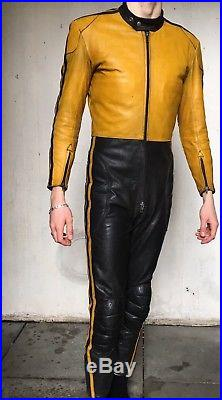 Interstate Leathers Vintage Racing Motorcycle Leather Suit Size 38