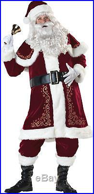Jolly Ol' St. Nick Adult Costume Mens Santa Claus Red Suit Christmas Holiday