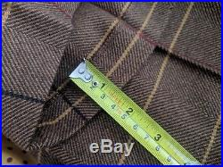Joules Tweed Run jacket mens Lynwood 2 piece suit wool 3/4 length Vintage Retro