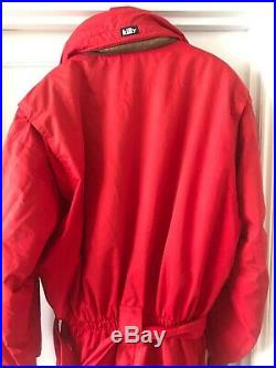 Killy Ski Suit, Vintage Retro One-Piece, Mens, Large, Red