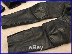 LOVELY BELSTAFF VINTAGE Retro 2 piece MOTORCYCLE Leather Suit JACKET + TROUSERS