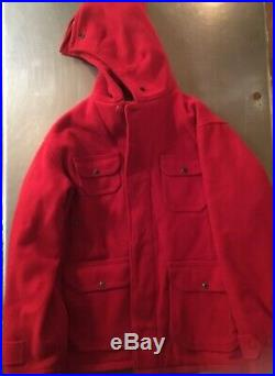 MINT Vintage Woolrich Mackinaw Hunting Suit Red Wool 1940s Size XL 44 & 42