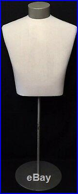 Male Torso Mannequin Dress Suit Form Vintage JCPenney Retail Display Stand