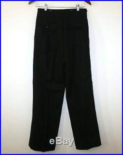 Max's Vintage 20s-30s Double Breasted 2pc Tuxedo Wool Button Fly Pants 36R 28-31