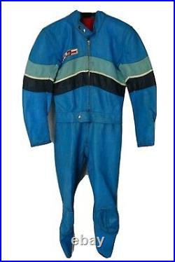 Mens Vintage Dainese Leather Motorcycle Suit 38