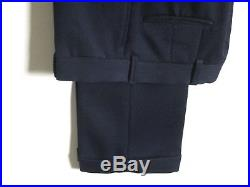 Mens Vintage J PRESS Trad NAVY BLUE Hook Vent Sack Suit CAVALRY TWILL approx 40