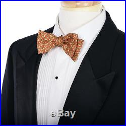Mens Vintage TUXEDO Suit Sz 44 XL by DUNHILL TAILORS NYC Bespoke Onyx Black