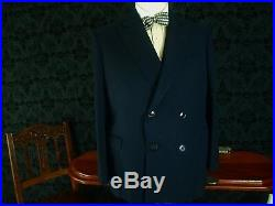 Mens Vtg 1940's 40's Style Gieves & Hawkes DB Savile Row Suit 38 slim 40 36W 30L