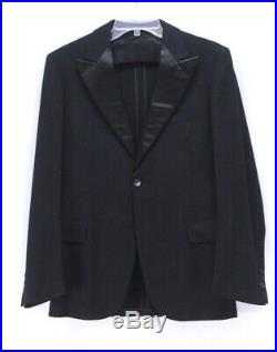 Mens black VINTAGE 20s 30s 3pc TUXEDO bakelite buttons button fly wool 36 38 R