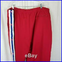 NBA All Teams Patches Warm Up Suit Track Jacket Pants Vintage 90s Mens 4X Red