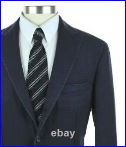NWT Belvest Navy Vintage Wash Wool Mohair Unstructured Two Button Suit 44 R