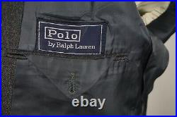 Polo Ralph Lauren VINTAGE Gray Bright Blue Double Breasted Peak 2Pc Suit 40S
