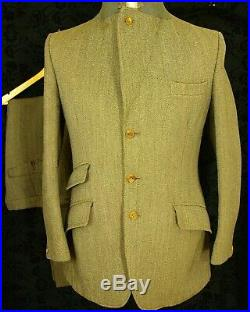 Rare Mens Vtg Harry Hall Hacking Jacket Suit 38 small keepers tweed 32W 31L