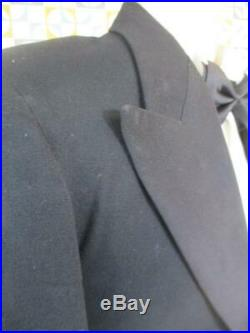 S 36R Vintage 1938 Austin Reed Mens Evening Tails Suit Tailcoat & Trousers Rare