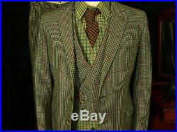 Special Mens VTG Tweed 3 Piece Moss Bros Country Suit Sz 38 small 30W 31L