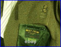Superb Mens Vintage Tweed Hacking Country Suit Waistcoat Fishtail Trousers 38