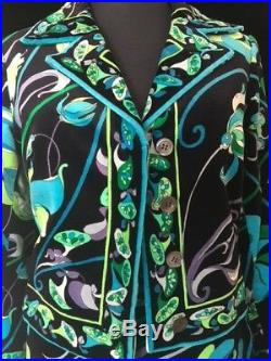 VINTAGE 1960s PUCCI VELVET TWO-PIECE SKIRT SUIT IN MINT CONDITION, SIZE 10