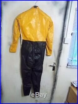 VINTAGE 60's LEWIS LEATHERS AVIAKIT MOTORCYCLE SUIT SIZE 36 XS CLIX ZIPS