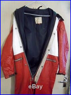 VINTAGE 60's LEWIS LEATHERS AVIAKIT MOTORCYCLE SUIT SIZE 42 CLIX LIGHTNING ZIPS