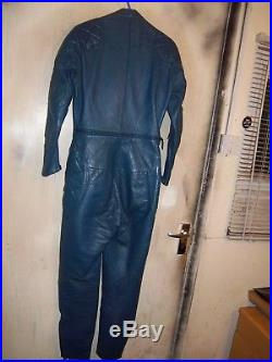VINTAGE 70's LEWIS LEATHERS AVIAKIT MOTORCYCLE SUIT SIZE 36 XS