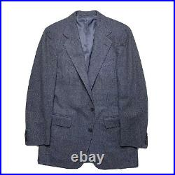 VTG 40 R Polo Ralph Lauren Heavy Flannel Weigh Mid Grey Wool Suit Made USA