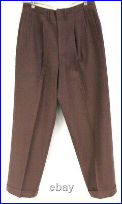 VTG 50s Mens Suit Red Brown Gab Wool 1940s Early 50s Rockabilly Botany 500 44R